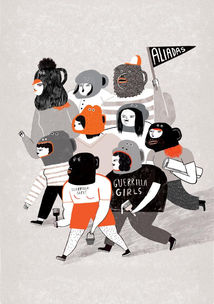 Ilustración Guerrilla Girls