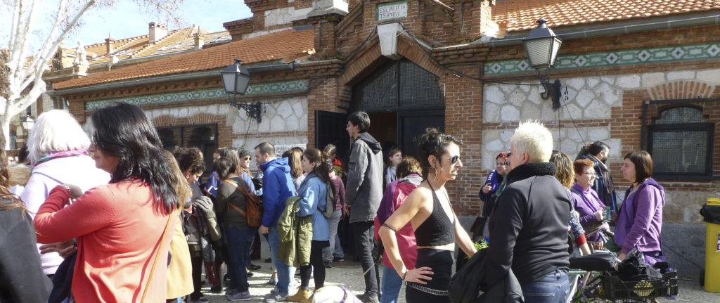 'Eventazo' en Matadero de Madrid para calentar la huelga del 8-M. Foto: Raquel Burgos